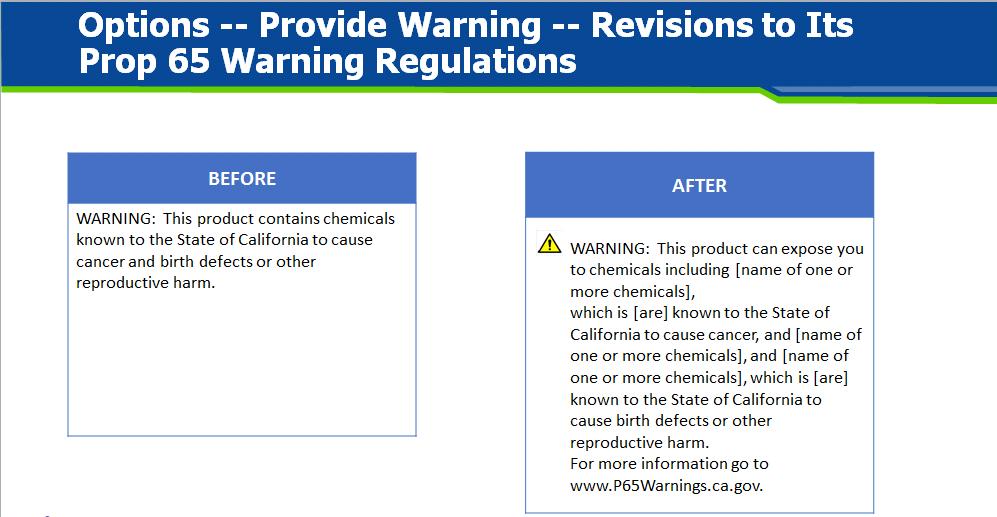 Recent Regulatory Developments | Bergeson & Campbell